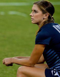 Alex Morgan on the bench. #USWNT