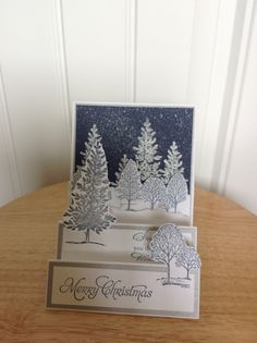 step tree card - winter