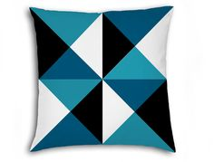 Geometric pattern pillow cover that will instantly transform your interior and create a stunning design to your cozy home. This beautiful pillow