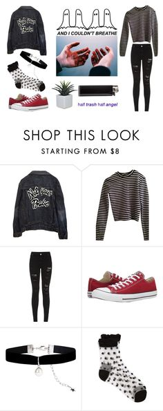"""Murder House 101: Tate Langdon"" by princxssamiel ❤ liked on Polyvore featuring High Heels Suicide, T By Alexander Wang, Parisian, Converse, Monsoon and Girly"