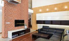 Valpaint 'Jungle' giraffe-print! Een print die u niet vaak zult zien en een verrassend effect geeft in uw huiskamer. Geef de schouw, een opvallende muur of uw slaapkamer een extra dimensie door deze levensechte wandafwerking te gebruiken!