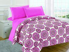 RAMPAGE 5-Piece Comforter Set, Medici Pink, Full, Full #Rampage