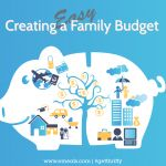 Creating an easy family budget, printable spreadsheet