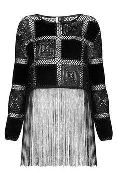 Fabulous Crochet a Little Black Crochet Dress Ideas. Fabulously Georgeous Crochet a Little Black Crochet Dress Ideas. Cardigan Au Crochet, Black Crochet Dress, Crochet Cardigan, Crochet Shawl, Mode Crochet, Crochet Tops, Crochet Edgings, Freeform Crochet, Crochet Motif