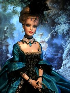 About Adrianka: Tonner Ultra Basic Sydney 2009  Versailles Lady ( dress, makeup and photography of  this doll was made by my friend Helena Zvolska)