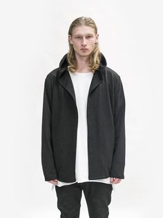 Profound Aesthetic French Terry Shawl Collar Hoodie In Black - Medium