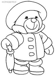 Teddy Bear Coloring Page | Pinterest | Teddy bear, Worksheets and Bears
