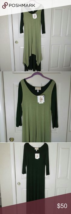 Antthony originals two dresses Antthony originals two dresses which you can wear together or separately. Generous fit, unworn, in perfect condition. In colors: dark green and light green. 95% rayon, 5% spandex ; 95% viscose, 5 % elastin Antthony originals Dresses Maxi