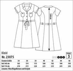 Kleid - 23075 - Stoff & Stil