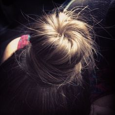 """This would be easy to do with a sock bun! :) """"cute hair shot by @bela0412 on twitter. :)"""""""