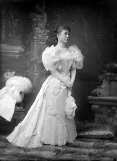 carolathhabsburg:Lady in elegant gown. Mids 1890s.