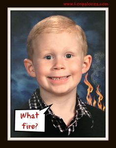 Perhaps the greatest school picture ever taken. Photographic evidence of his guilty face.