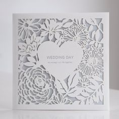 Save up to on Exclusive Blue Laser Cut Heart Floral Wedding Invitations Vintage Unique Modern Affordable & Cheap Invitation cards Invites RSVP Laser Cut Wedding Invitations, Vintage Wedding Invitations, Wedding Invitation Templates, Wedding Stationery, Laser Cut Invitation, Cricut Invitations, Invitations Online, Vintage Weddings, Invites