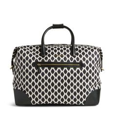 Travel Duffel Bag in Ikat Spots with Black 7fbffb391be5d