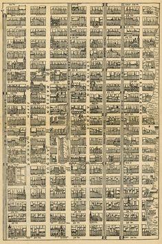 Map of Midtown Manhattan (1890) | unknown