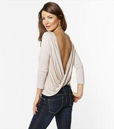 Wrap Back 3/4 Sleeve Top