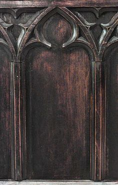 1stdibs | 19th C. Gothic Revival Full Size Walnut Bed