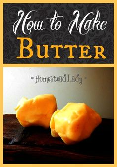 How to Make Butter l 4 easy steps l Homestead Lady