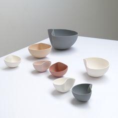 Belgian designer Ilona Van den Bergh's ceramic bowls are slip-cast in perfect…