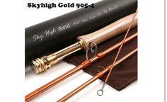 Sky High Gold Toray IM-12 46T 9Ft 4Piece Fly Rod 5 Wt. - Anglers Addiction  - 1