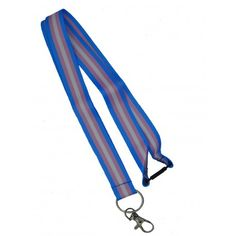 Trans lanyard long with hook and click lock - woven lanyard with trans-flag, approx. Pride Products, Trans Flag, Gay Pride, Celebrities, Color, Celebs, Colour, Celebrity, Pride