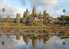 Angkor Wat Temples, Siem Reap, Cambodia: