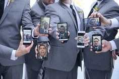 When your bridal party is all dressed and ready to go, it's inevitable that selfies will ensue. Compile them all with this clever idea!