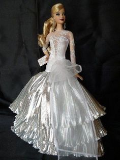 Barbie Bridal, Barbie Wedding Dress, Barbie Gowns, Barbie Clothes, Wedding Dresses, Barbie Style, Beautiful Gowns, Beautiful Outfits, Bride Dolls