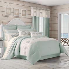 Aqua Bedding, Coastal Bedding, Coastal Bedrooms, Luxury Bedding, Beach Bedrooms, Coastal Decor, Theme Bedrooms, Coastal Colors, Boho Bedding