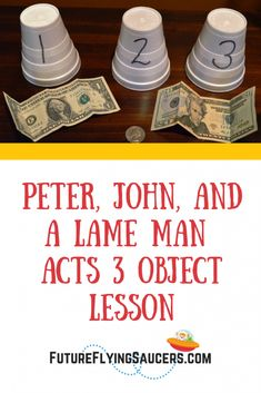 Peter, John, and a Lame Man Acts 3 Object LessonYou can find Sunday school lessons and more on our website.Peter, John, and a Lame Man Acts 3 Object Lesson Kids Church Lessons, Kids Sunday School Lessons, Youth Group Lessons, Sunday School Activities, Bible Lessons For Kids, Sunday School Crafts, Youth Groups, Youth Activities, Church Activities