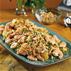 Asian Shrimp With Pasta
