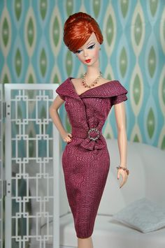 72-6. Joan's fuchsia dress repro from MAD MEN drama by Natalia Sheppard, via Flickr