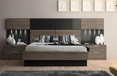 Dormitorio moderno acacia pizarra