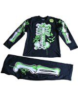 Fancy Dress Pjs Skeleton Glow In The Dark Pyjamas 5-10 Years