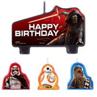 Star Wars Episode VII The Force Awakens Birthday Candles 4ct - Party City