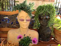 Head planters ~ stonefacecreations.com