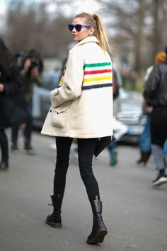 Stella Maxwell - Paris style roundup FW16 day 5 #pfw #fw16