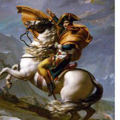 Napolean Bonaparte crossing the alps!