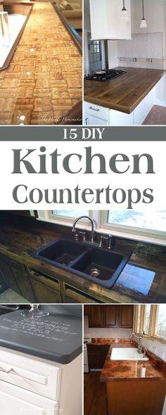 Cheap Countertop Idea My Home Pinte - Kitchen countertop ideas on a budget