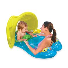 Mommy and Me Summer Beach Pool Sun Shade Canopy Baby Kids Adult Float Seat Smart 2nd Baby, Baby Kids, Baby Baby, Baby Float, Inflatable Float, Baby Canopy, Baby Swimming, Pool Floats, Water Toys