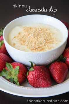 Skinny cheesecake dip: great with fruit for a party