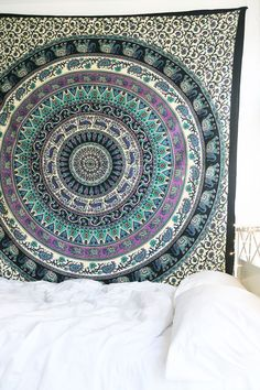Ooh La Loft - Royal Plum Mandala Tapestry