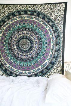 Ooh La Loft - Royal Plum Mandala Tapestry