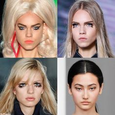 Makeup Trend for SS16: '60s Retro Statement Faux Falsies. Jeremy Scott, Louis Vuitton, Martin Grant and Thomas Tait Spring Summer 2016.