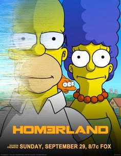 """When """"The Simpsons"""" returns for Season don't be alarmed to see it striking a resemblance to """"Homeland."""" In honor of the season's first episode, which finds Homer tangling with terrorists, new opening credits were required. Simpsons Lego, The Simpsons Movie, Simpsons Characters, Disney Characters, Fictional Characters, Simpson Tv, Homer Simpson, Series Gratis, Opening Credits"""