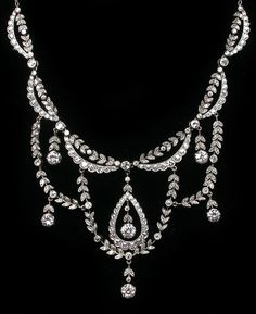 Edwardian 9.25ct Diamond Platinum Necklace