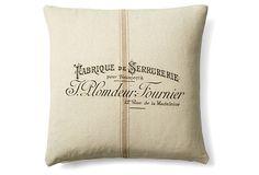Fabrique 20x20 Cotton Pillow, Natural on OneKingsLane.com