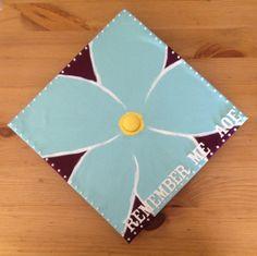 My Alpha Phi Forget-Me-Not Graduation Cap! #asualphaphi #alphaphi