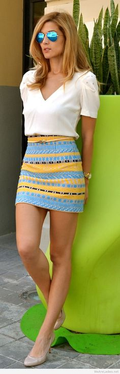 Summer outfits pretty with blouse, and a cute skirt