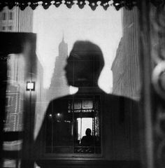 Louis Faurer, fashion photographer and a master of candid or street photography. Self-portrait, 1946.